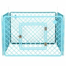 Puppy Playpen Cage Dog Cat Pet Plastic Whelping Pen Indoor Outdoor 4 Panel