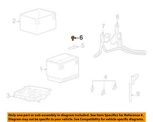 GM OEM Battery-Hold Down Bracket Clamp Tie Bolt 11516700