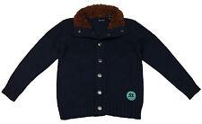Strickjacke Jungen blau Cardigan Gr. 92 98 104 110 116 122 128 Jacke Sweater NEU
