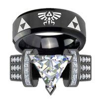Punk Frauen Mann Gothic Ringe Schmuck Paar Schwarz Edelstahl Ring mode