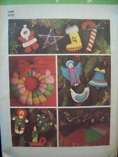 Vintage Simplicity Pattern 7736 Chr Decorations Fabric Felt **Most Uncut**