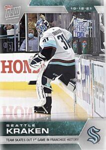 2021-22 TOPPS NOW NHL STICKER SEATTLE KRAKEN #2 1st GAME IN FRANCHISE HISTORY