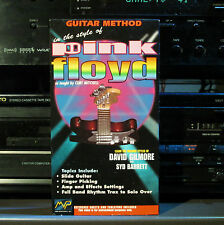 Guitar Method in the style of PINK FLOYD - VHS by Curt Mitchell, TESTED!