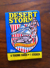 Desert Storm Topps Trading Cards 1991 original package 8 cards and 1 sticker