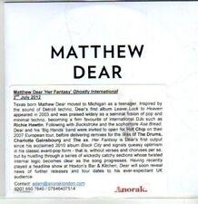 (DA955) Matthew Dear, Her Fantasy - 2012 DJ CD