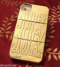 NIB Juicy Couture iPhone 4 4S Case Stackable Logo Hard Gold  $48 Retail Rare