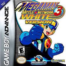 MEGA MAN BATTLE NETWORK 3 WHITE GAME BOY ADVANCE GBA COSMETIC WEAR
