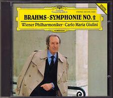 Carlo Maria GIULINI: BRAHMS Symphony No.2 Wiener Philharmoniker DG CD Sinfonie