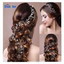 Bridal Wedding Headband Crystal Hair Vine Brides Elegant Tiara Headpiece Jewelry