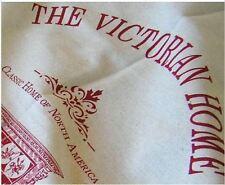 ZAKKA Linen Fabric Victorian Antique House 60x140cm