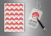 Sale price retail stickers tags labels shop retail store point sticky labels tag