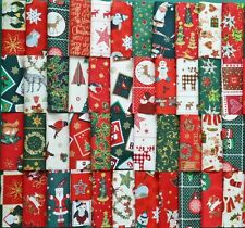 CHRISTMAS PATCHWORK QUILTING FABRIC SQUARES CHARMS 100% COTTON  PACK OF 50 x 4""