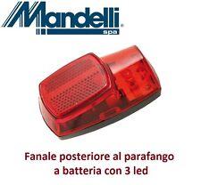 0120 - Stop/Fanale posteriore al parafango a batteria per Bici 20-24-26 Cruiser