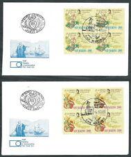 1990 SAN MARINO FDC FAIP COLOMBO AMERICA QUARTINA NO TIMBRO DI ARRIVO - RD12-2