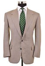 Oxxford Clothes Gray Cream Tweed Woven Silk Wool Sport Coat Jacket Blazer 40 S