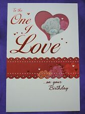 To The ONE I LOVE  - Medium -  Tatty Teddy Me to You - Birthday Card