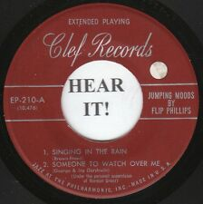 Flip Phillips JAZZ 45 EP (Clef 210) Singing in the Rain/Someone to Watch Over Me