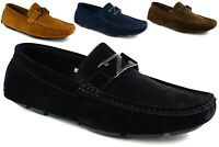 New Mens slip on faux suede smart comfort loafer driving shoes UK Size 6 to 12