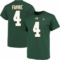 New NFL Brett Favre Green Bay Packers Hall of Fame Men's Majestic Jersey T-Shirt