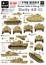 Star Decals 35-867, Decals for German Tanks in Italy 4 - Sicily 43