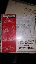 "Suzuki 2000 ""Y"" Models Motorcycle & Atv Ready Reference Manual #99923-32000"