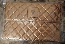 Younique Beachfront Kissed Gold Clutch Cosmetic Makeup Bag - New in package