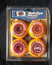 New in Package BullzEye Hockey Wheels- Indoor, Inline-Set of 4- 72mm/74A Orange