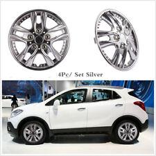 4Pcs Car Chrome Wheel Rim Skin Cover 13 Inch Hub Caps Hubcap Wheel Cover Silver