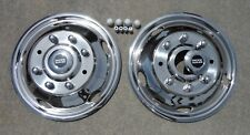 """FORD F450 / F550 19.5"""" 99-02 Stainless Dually Wheel Simulators 8 LUG FRONTS"""