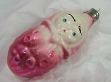 Vintage Pink Baby Glass Christmas Tree Ornament