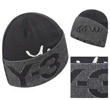 NWT AUTHENTIC YOHJI YAMAMOTO Y-3 SLOGAN UNISEX BLACK BEANIE HAT. ONE SIZE