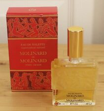 VTG Molinard De Molinard 1 oz 30ml Frosted Glass Lalique Nudes France Perfume