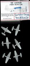 Starfighter Models 1/500 Grumman Tbf Avenger Planes Aircraft Carriers