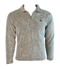 Kangaroo Poo Womens Wooly Rib Fleece Sweatshirt Top Jacket (Sand) - L
