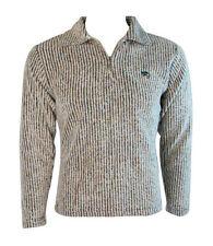 Kangaroo Poo Womens Wooly Rib Fleece Sweatshirt Top Jacket (Sand) - S