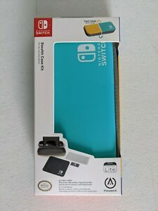 Nintendo Switch Lite Stealth Case Two-Tone Color Screen Protector Free Shipping