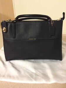 Coach Lock Borough Bag Black Embossed texture Great Condition RRP $1000