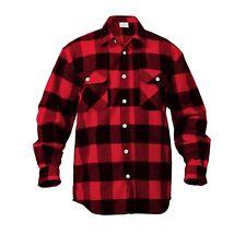 Extra Heavyweight Brawny Buffalo Plaid Flannel Shirt Long Sleeve S To 5XL