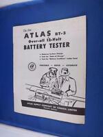 ATLAS BATTERY CHARGER TESTER SALE BROCHURE MODEL 300 MTA CAR MAINTENANCE 12 VOLT