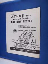 ATLAS BATTERY CHARGER TESTER SALE BROCHURE MODEL 300 MTA CAR MAINTENANCE 12 VOLT