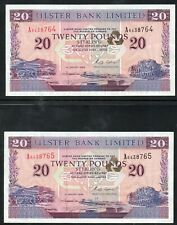 More details for *northern ireland* *first run* **ulster bank £20 notes** **1996** **in sequence*