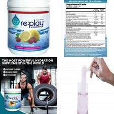 Re:Play Hydration Recovery Drink Powder, Raspberry Lemonade - 570g tub, 30.