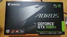 Opened box aorus GeForce GTX 1080 ti 11g nvidia vr ready