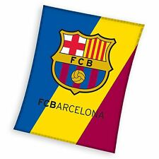 FC BARCELONA CREST BLUE FLEECE BLANKET KIDS FOOTBALL FAN OFFICIAL FREE P+P