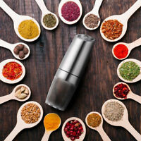 Automatic Electric Pepper Grinder LED Light Salt Pepper Seasoning Grinding Tool