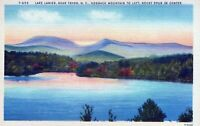 Lake Lanier Near Tryon North Carolina Hogback Mountain Linen Vintage Postcard