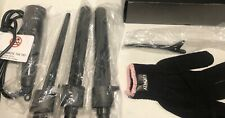 ISO Beauty Hair Ceramic Curling Iron / Black/ 1.5, 1, & 3/4 inch wands