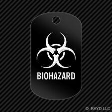Biohazard Keychain GI dog tag engraved many colors  toxic