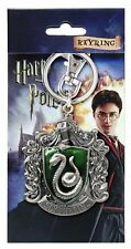 Harry Potter Slytherin School Crest Pewter Key Chain Key Ring Hogwarts House