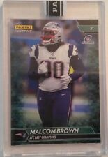 2017 Panini Instant Playoffs MALCOLM BROWN Patriots GREEN #08/10 Made ENCASED